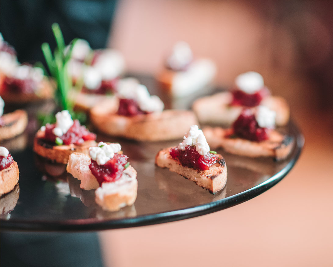 Hors d'oeuvres by Infinity Events and Catering