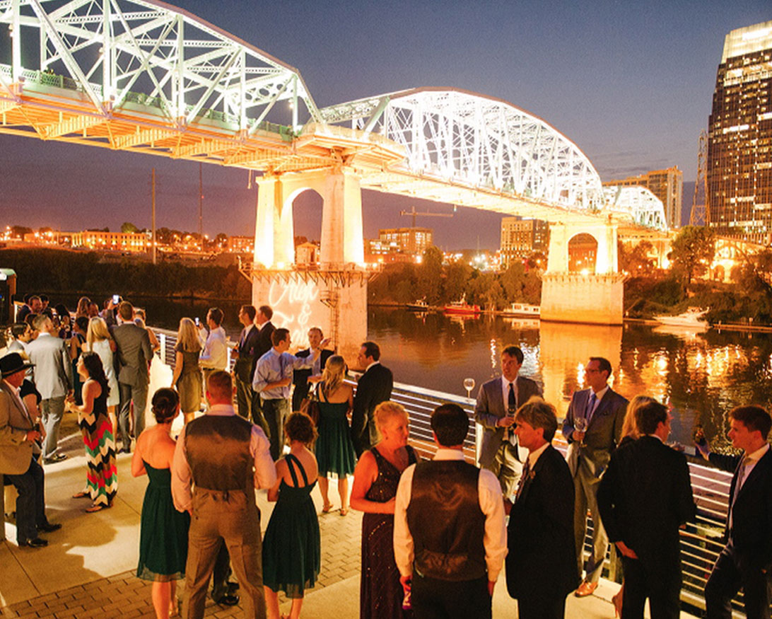 Wedding Reception on the Riverfront at The Bridge Building
