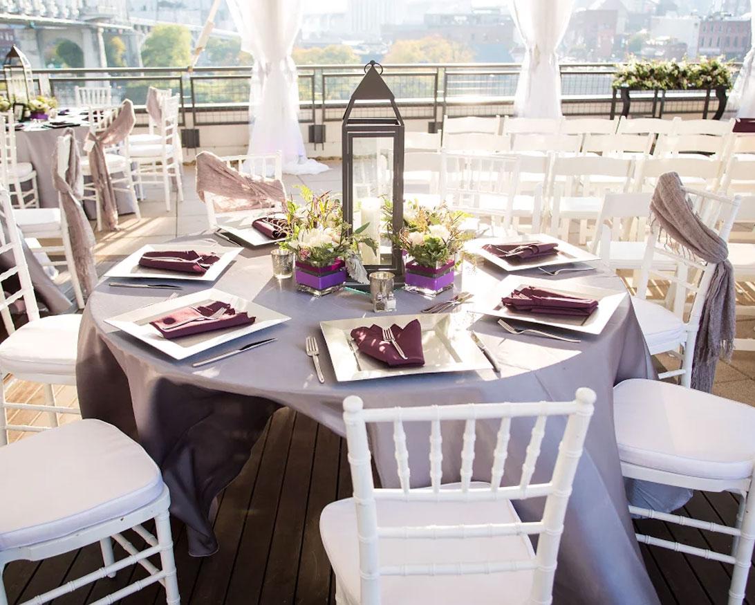 Table Setting at The Bridge Building