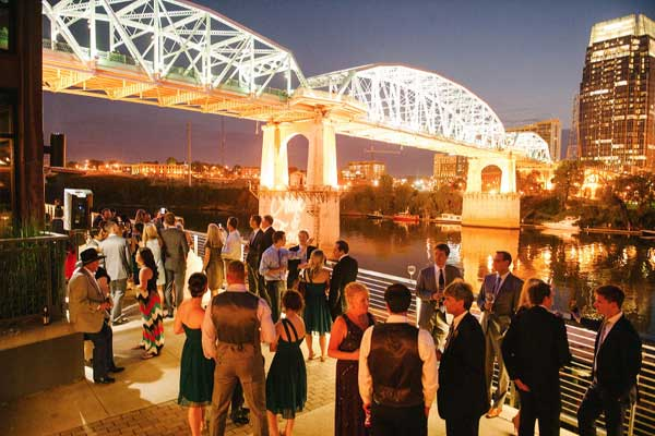 Reception on the Riverfront at The Bridge Building Event Spaces