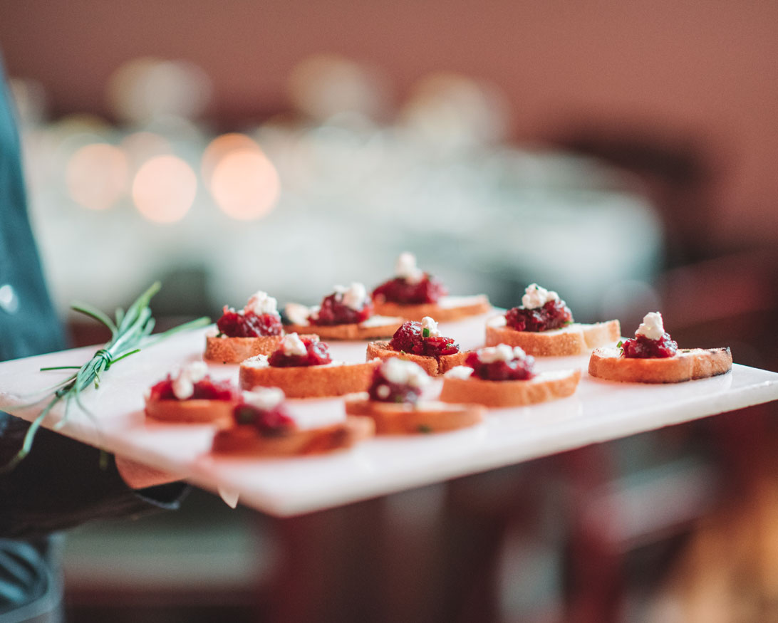 Infinity Events & Catering Served Hors D'Oeuvres