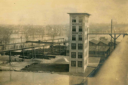 Historical Photo of The Bridge Building In Nashville, Tennessee